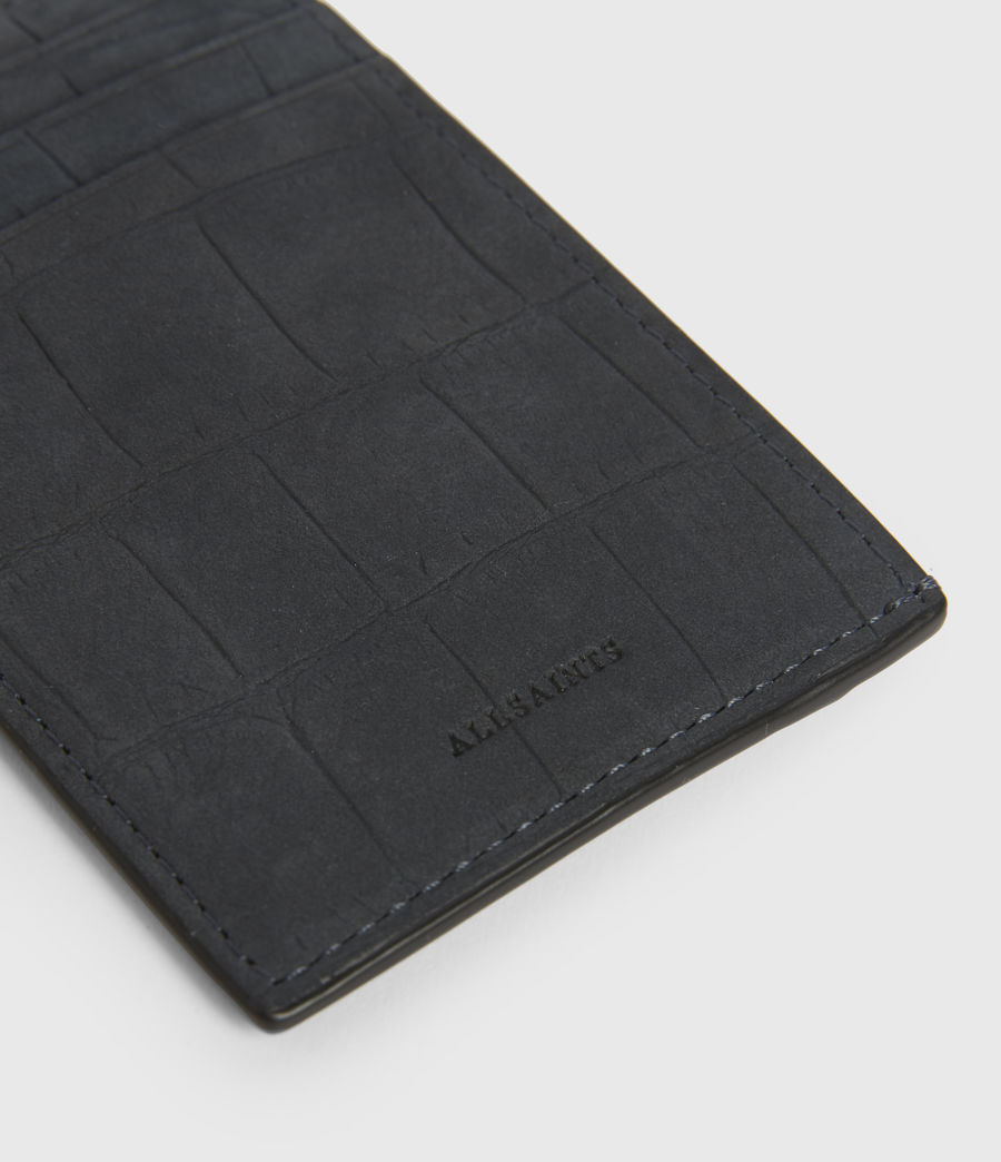 Womens Anabel Croc Leather Card Case (petrol_blue) - Image 2