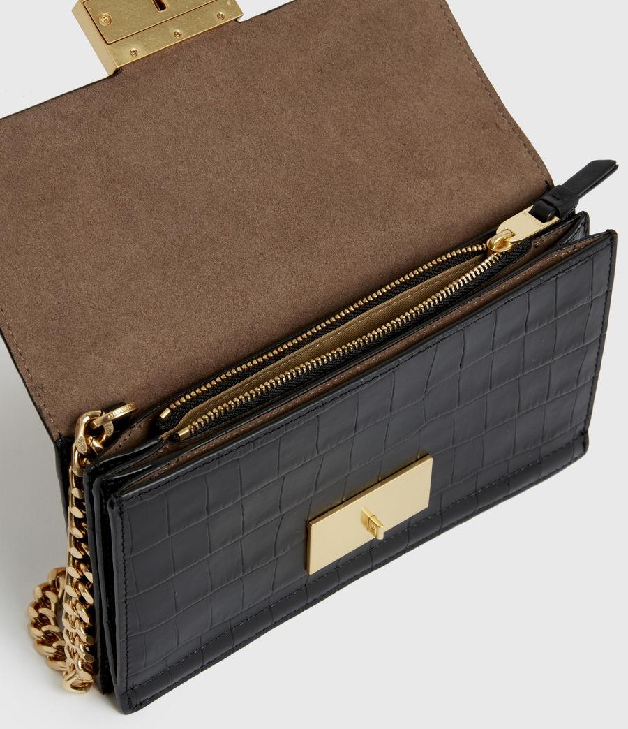Women's Hercules Crocodile Leather Wallet (black) - Image 2