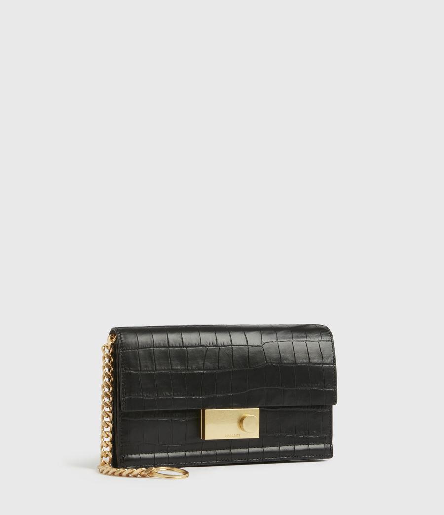 Women's Hercules Crocodile Leather Wallet (black) - Image 3