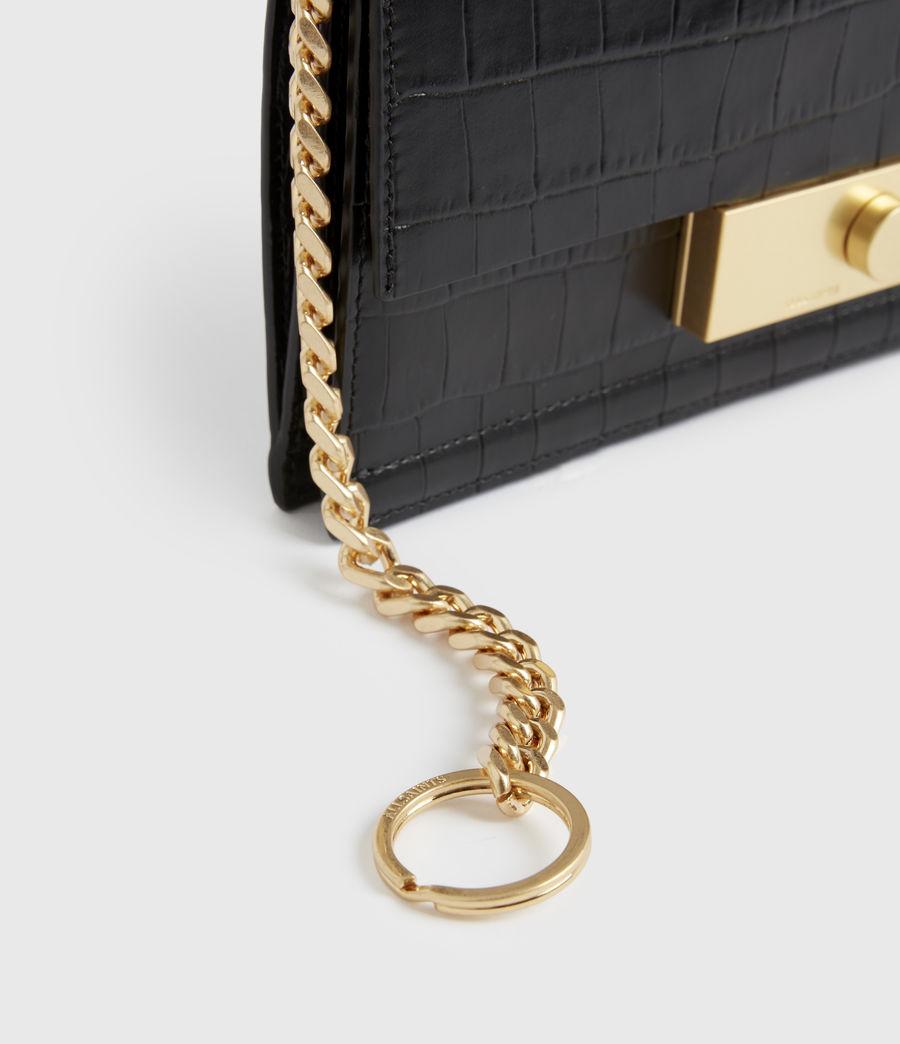 Women's Hercules Crocodile Leather Wallet (black) - Image 5
