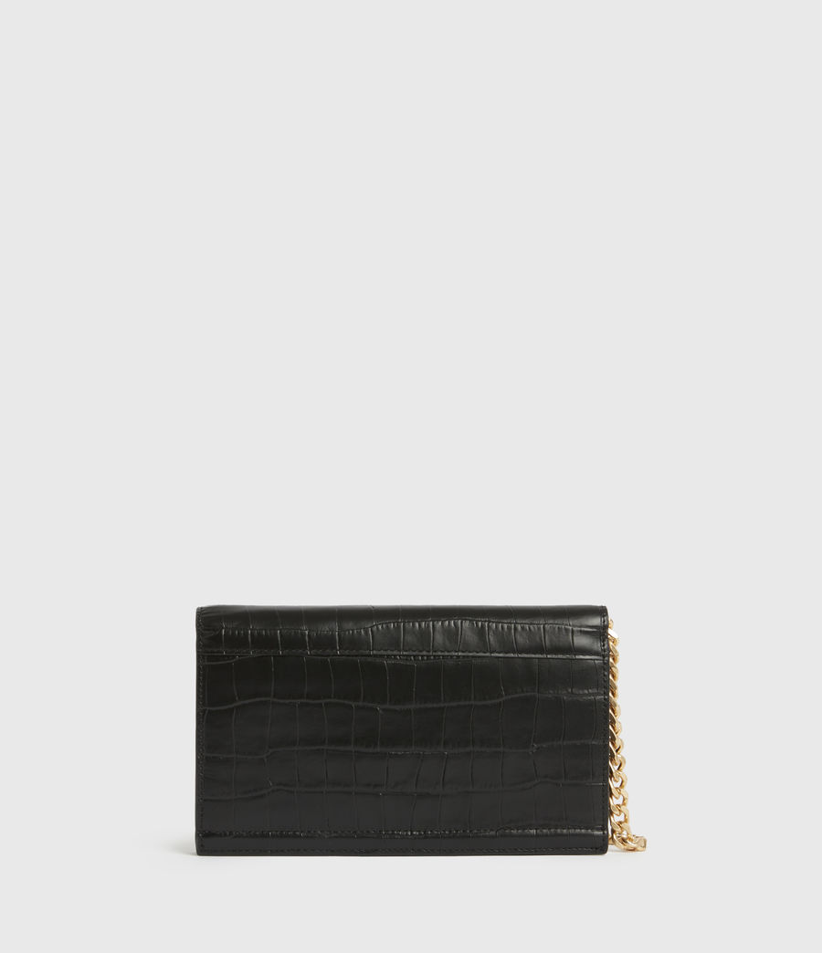 Women's Hercules Crocodile Leather Wallet (black) - Image 6