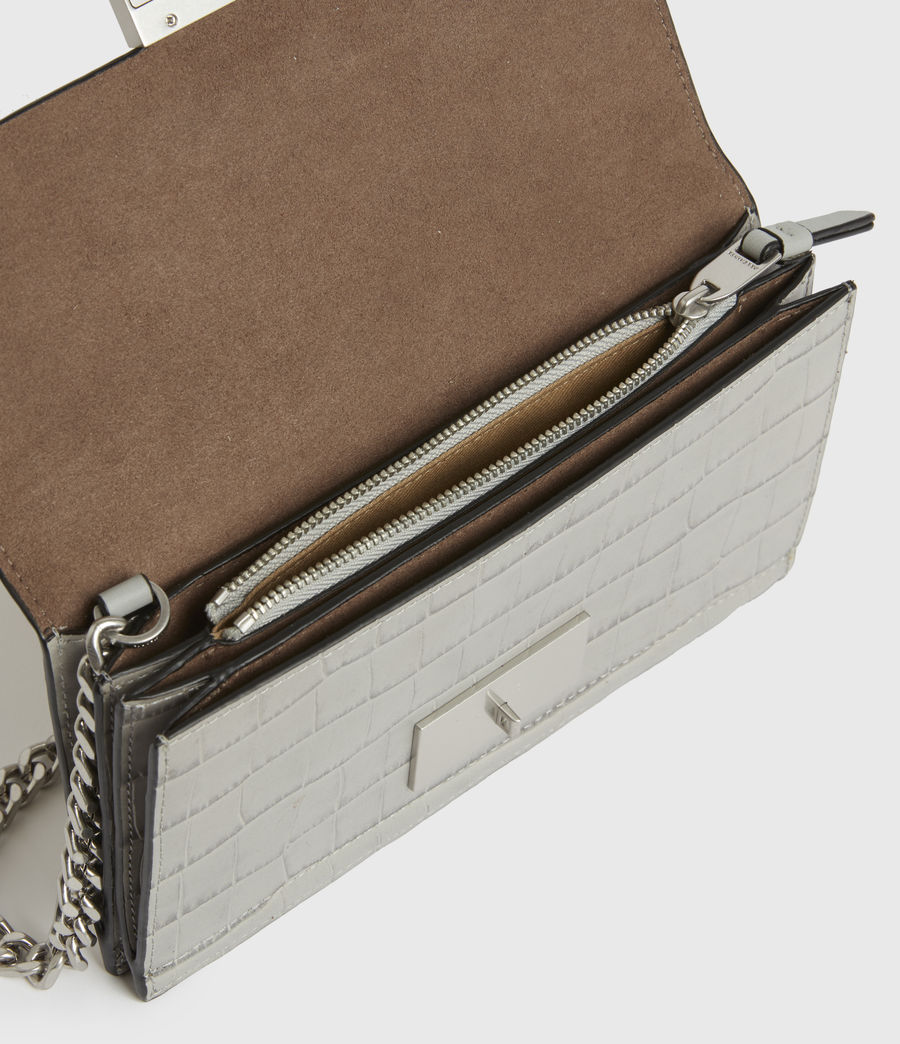 Womens Hercules Crocodile Leather Wallet (glacier_grey) - Image 2