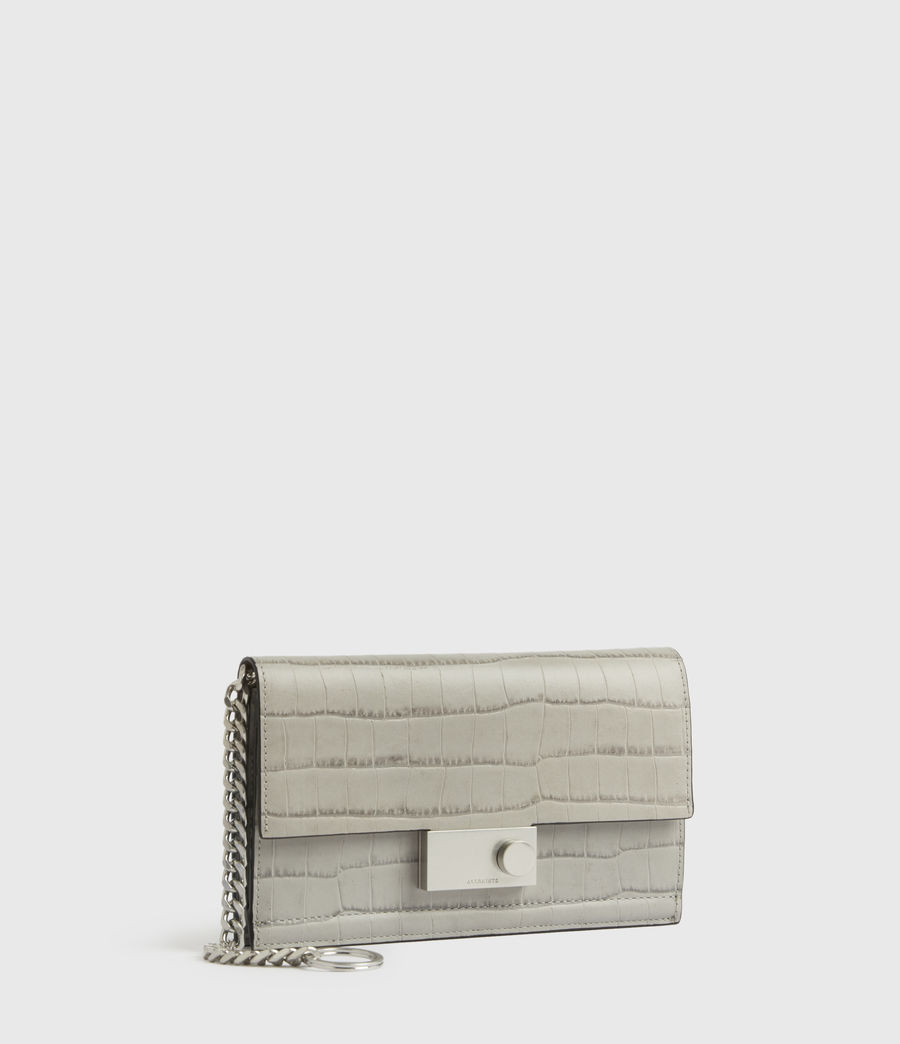 Womens Hercules Crocodile Leather Wallet (glacier_grey) - Image 3