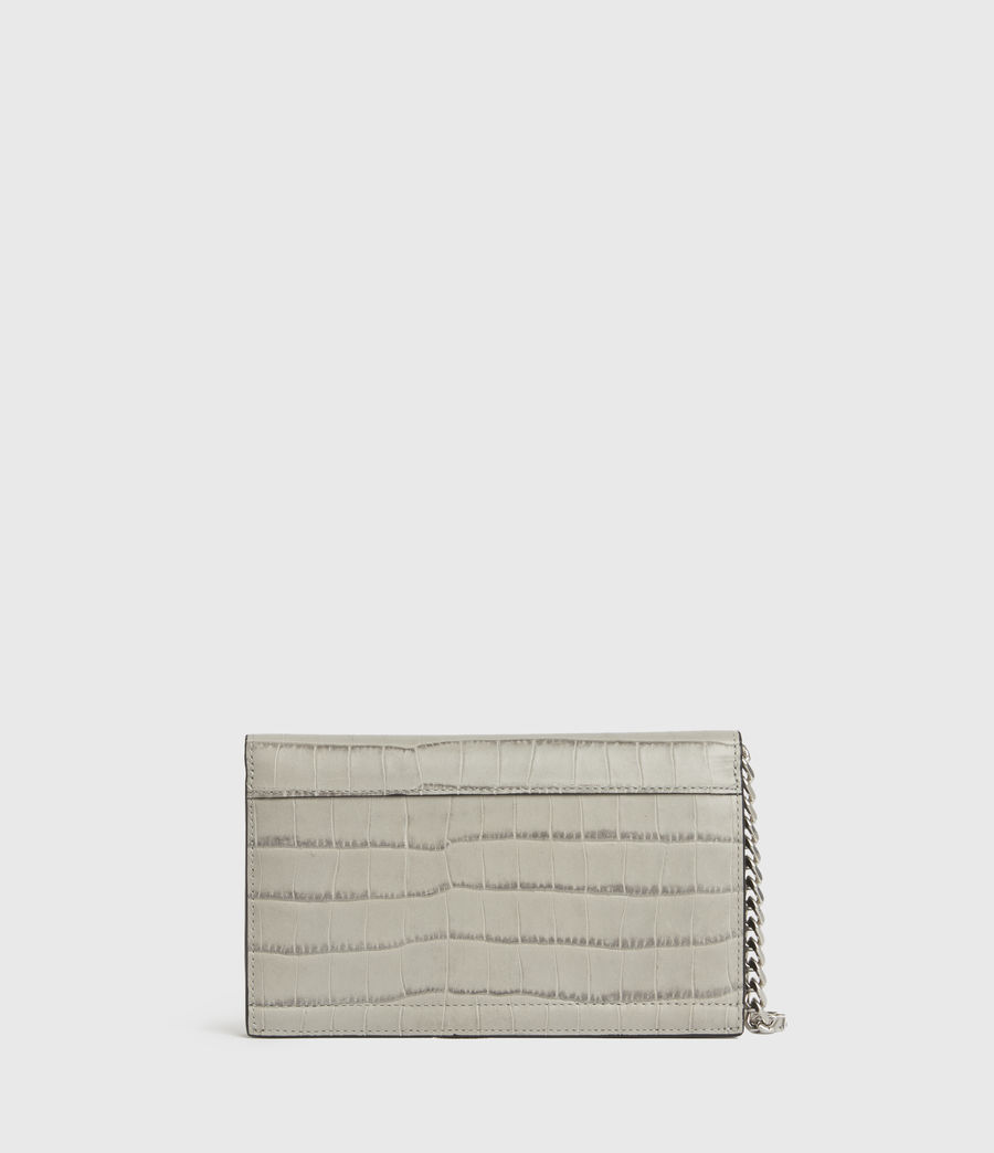 Womens Hercules Crocodile Leather Wallet (glacier_grey) - Image 6
