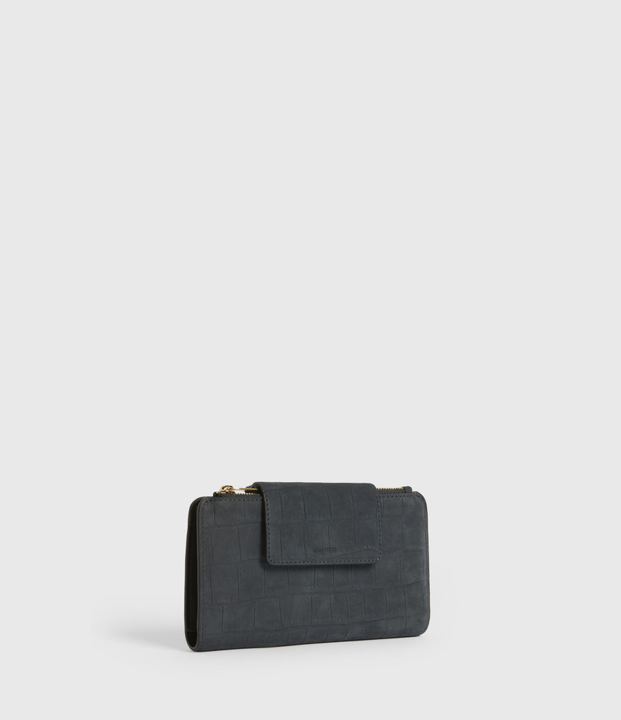 Women's Mitchell Leather Wallet (petrol_blue) - Image 3