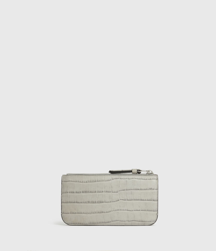 Womens St James Crocodile Leather Wallet (glacier_grey) - Image 1