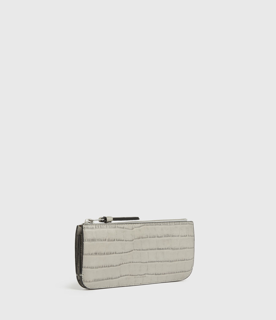 Womens St James Crocodile Leather Wallet (glacier_grey) - Image 3