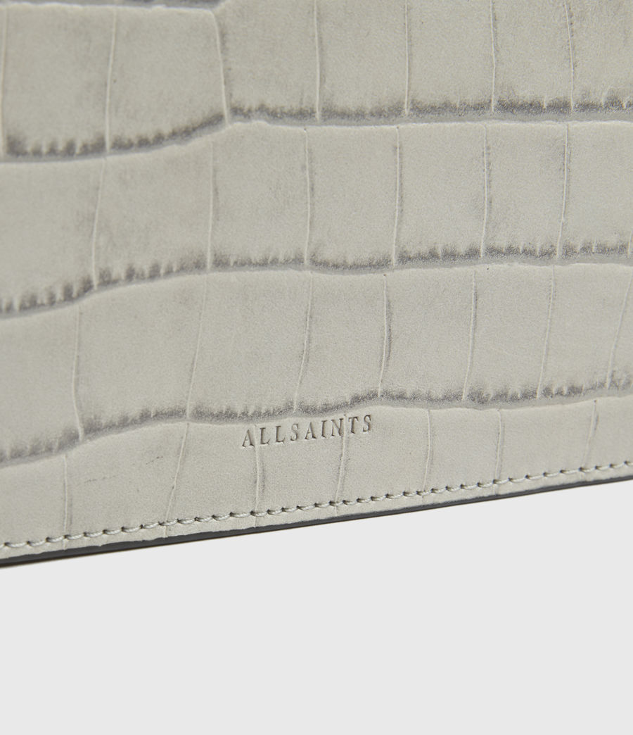 Womens St James Crocodile Leather Wallet (glacier_grey) - Image 4