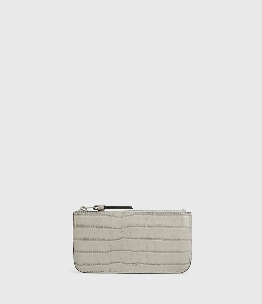 Womens St James Crocodile Leather Wallet (glacier_grey) - Image 5