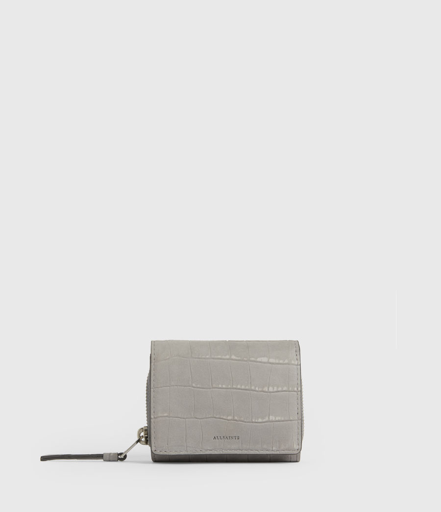 Women's Bede Leather Cardholder (mist_grey) - Image 1