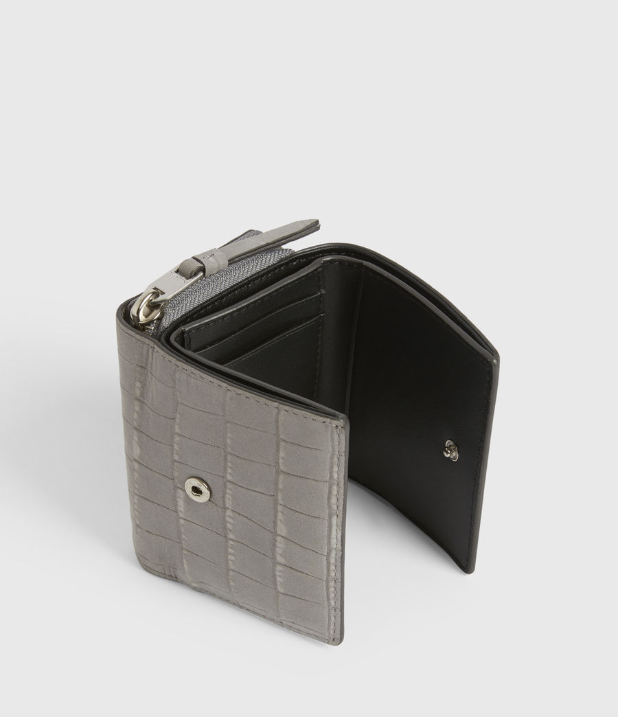 Women's Bede Leather Cardholder (mist_grey) - Image 2