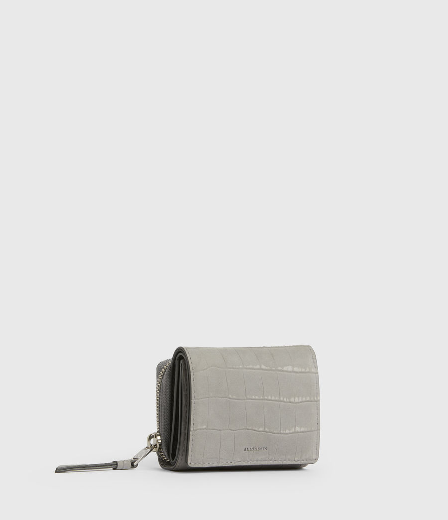 Women's Bede Leather Cardholder (mist_grey) - Image 3