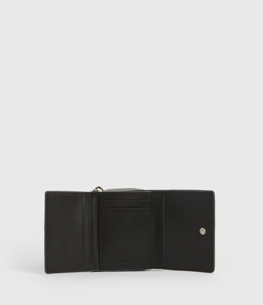 Women's Bede Leather Cardholder (mist_grey) - Image 4