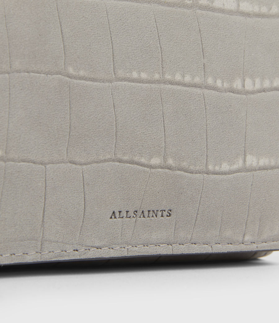 Women's Bede Leather Cardholder (mist_grey) - Image 5