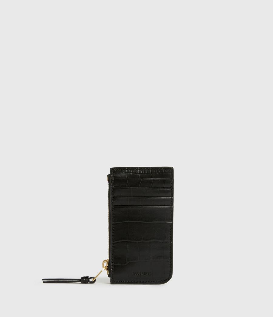 Women's Little Marlborough Leather Cardholder (black) - Image 1