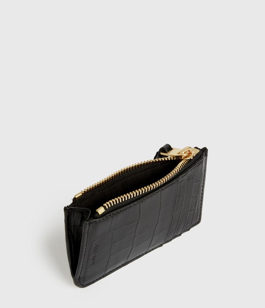 Women's Little Marlborough Leather Cardholder (black) - Image 2