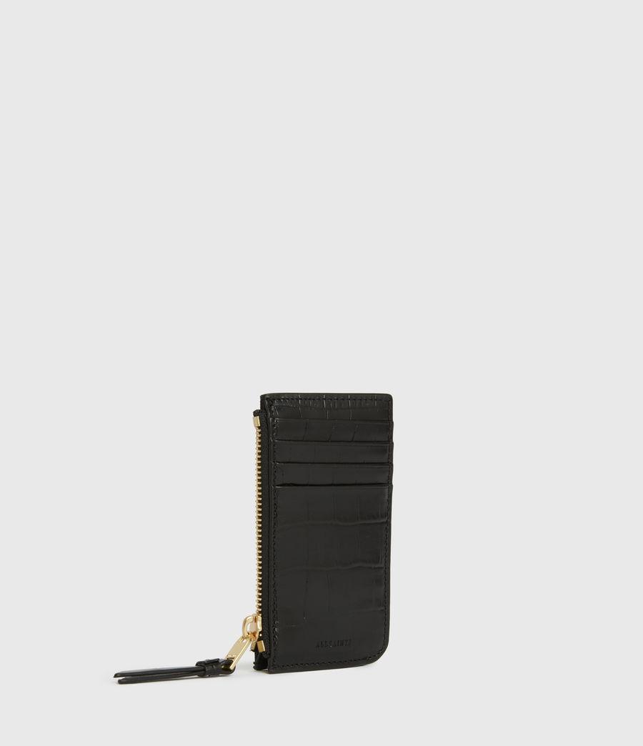 Women's Little Marlborough Leather Cardholder (black) - Image 3