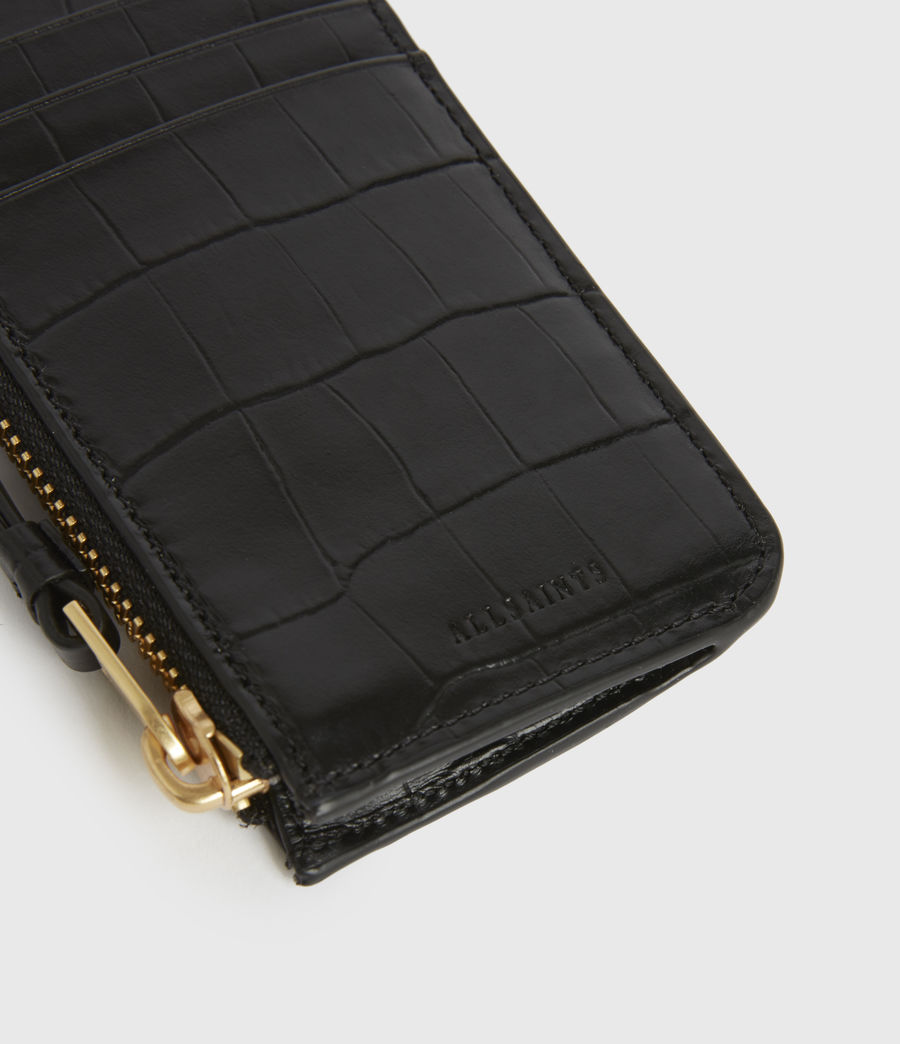 Women's Little Marlborough Leather Cardholder (black) - Image 4