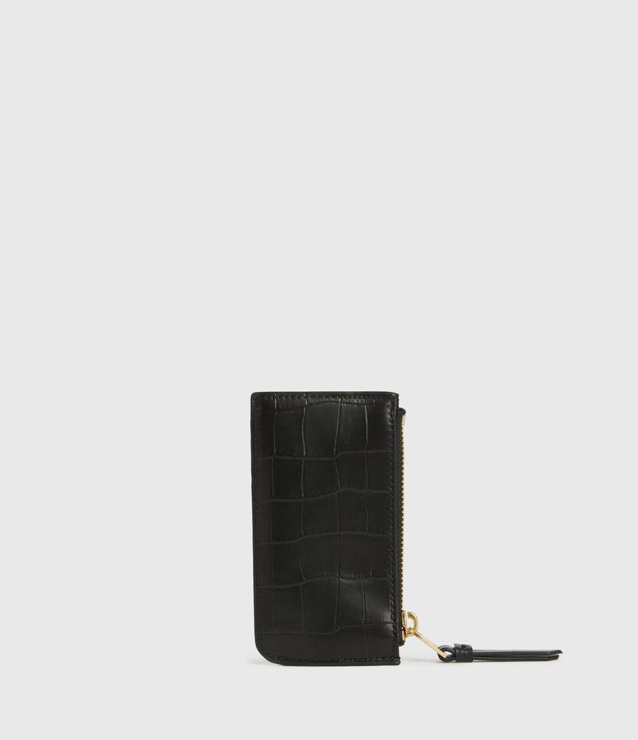 Women's Little Marlborough Leather Cardholder (black) - Image 5