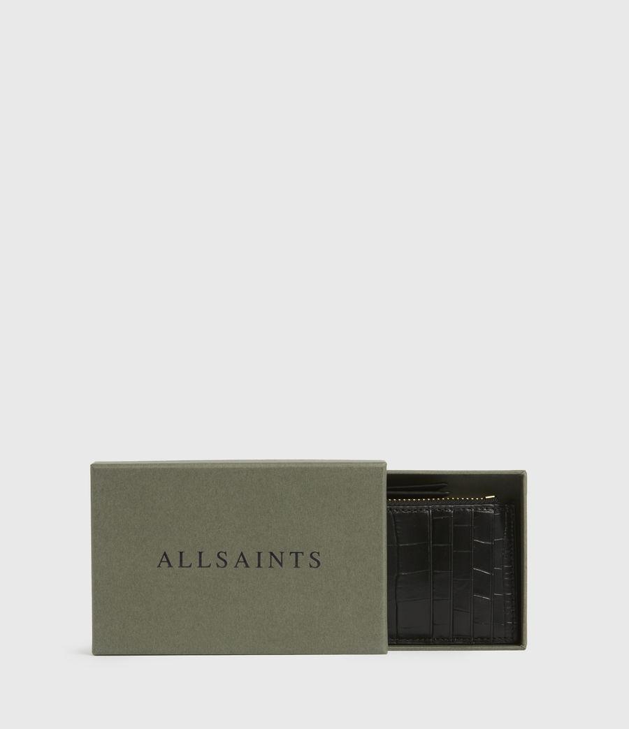 Women's Little Marlborough Leather Cardholder (black) - Image 6