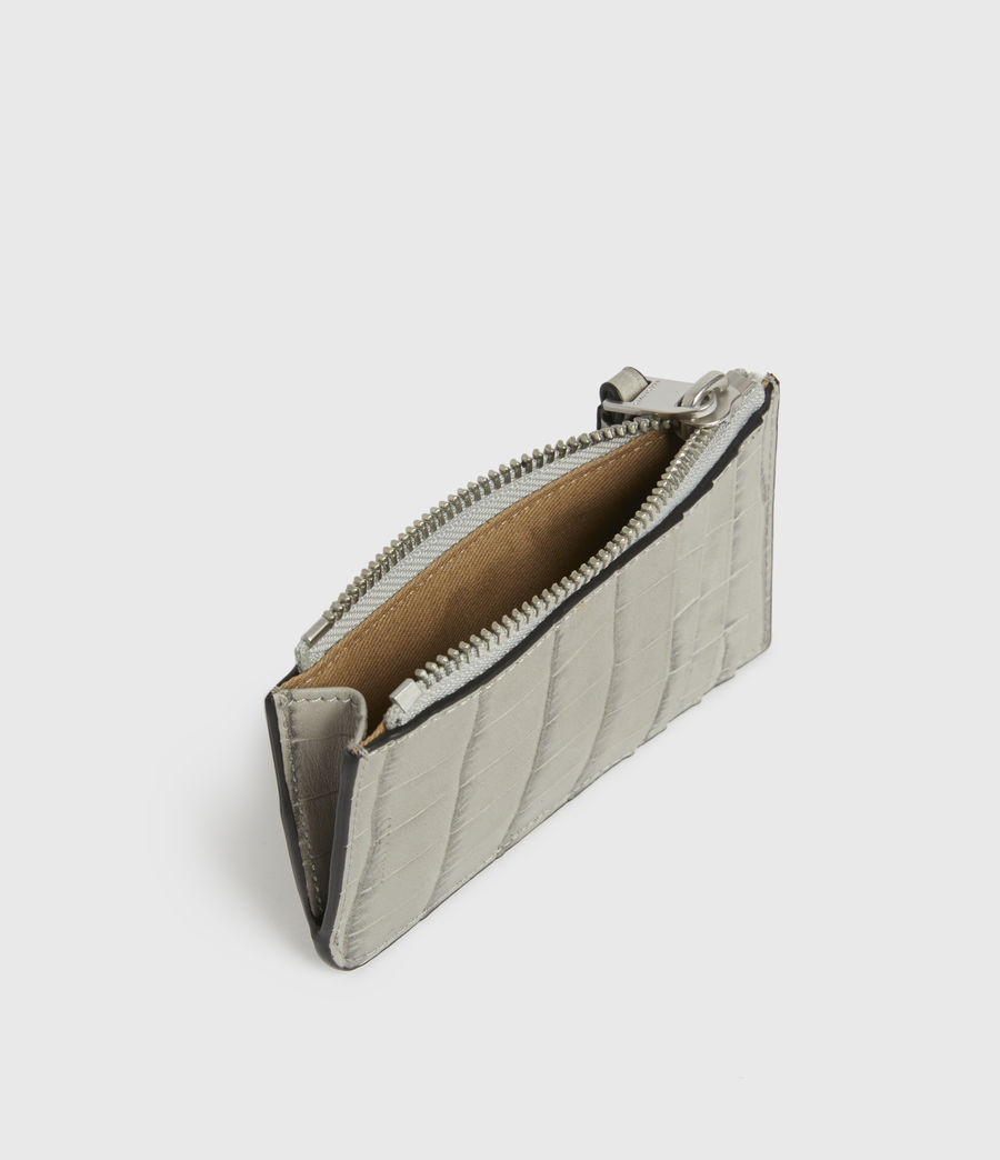 Women's Little Marlborough Leather Cardholder (glacier_grey) - Image 2