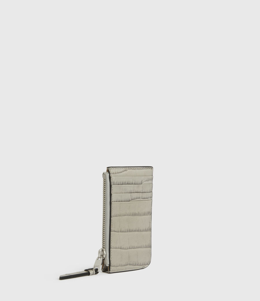 Women's Little Marlborough Leather Cardholder (glacier_grey) - Image 3