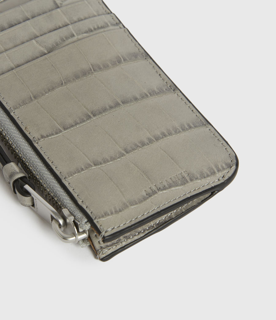 Women's Little Marlborough Leather Cardholder (glacier_grey) - Image 4