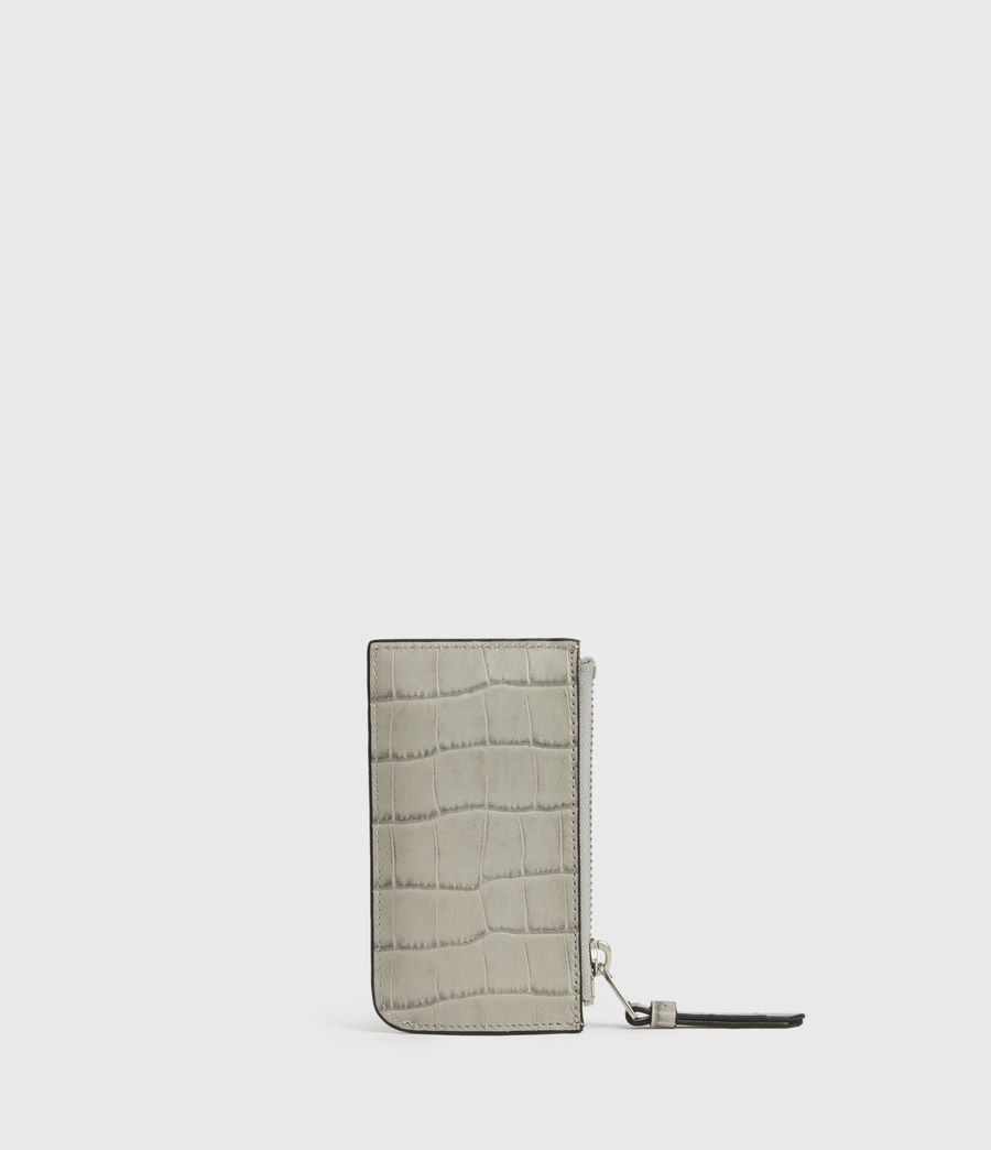 Women's Little Marlborough Leather Cardholder (glacier_grey) - Image 5