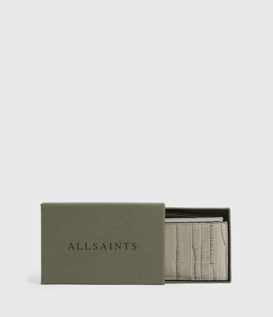 Women's Little Marlborough Leather Cardholder (glacier_grey) - Image 6