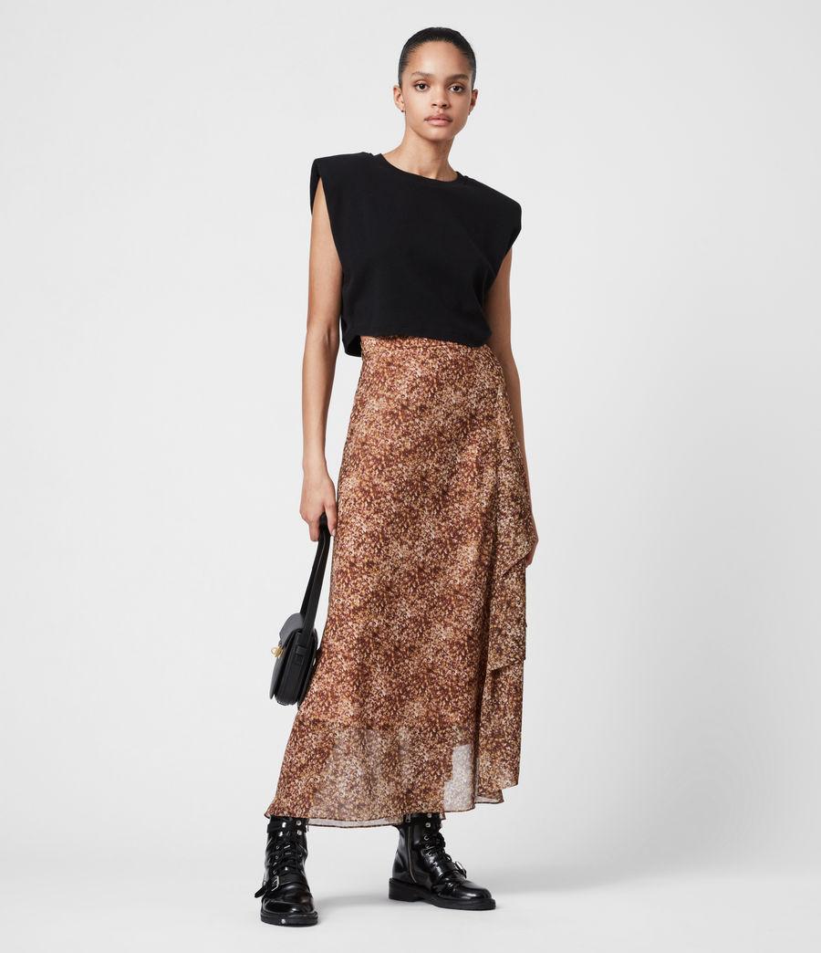 Women's Kali Tabby Skirt (chestnut) - Image 1
