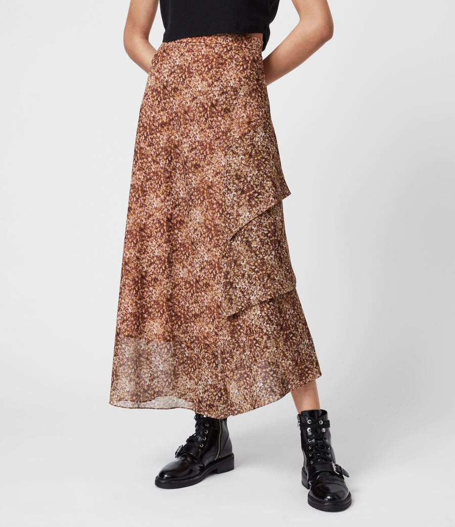 Women's Kali Tabby Skirt (chestnut) - Image 4