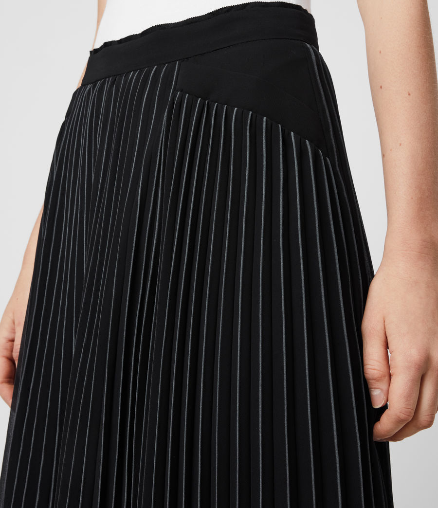 Women's Cora Pleat Skirt (black) - Image 2