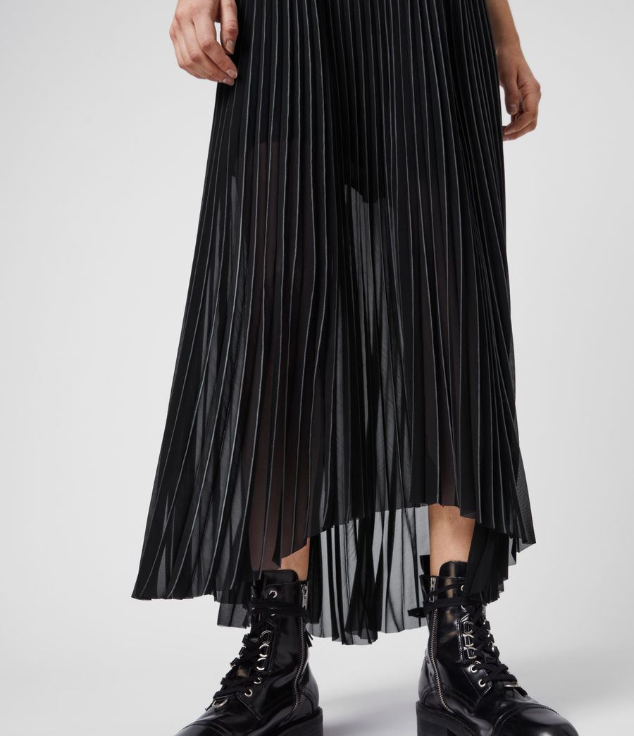 Women's Cora Pleat Skirt (black) - Image 5