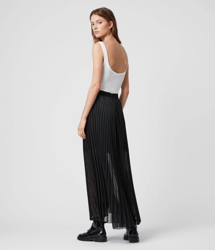 Women's Cora Pleat Skirt (black) - Image 6
