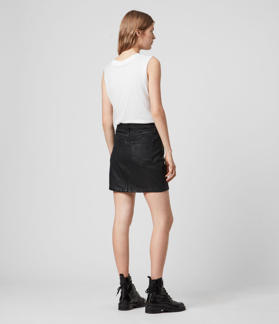 Mujer Sammy Denim Skirt (coated_black) - Image 5