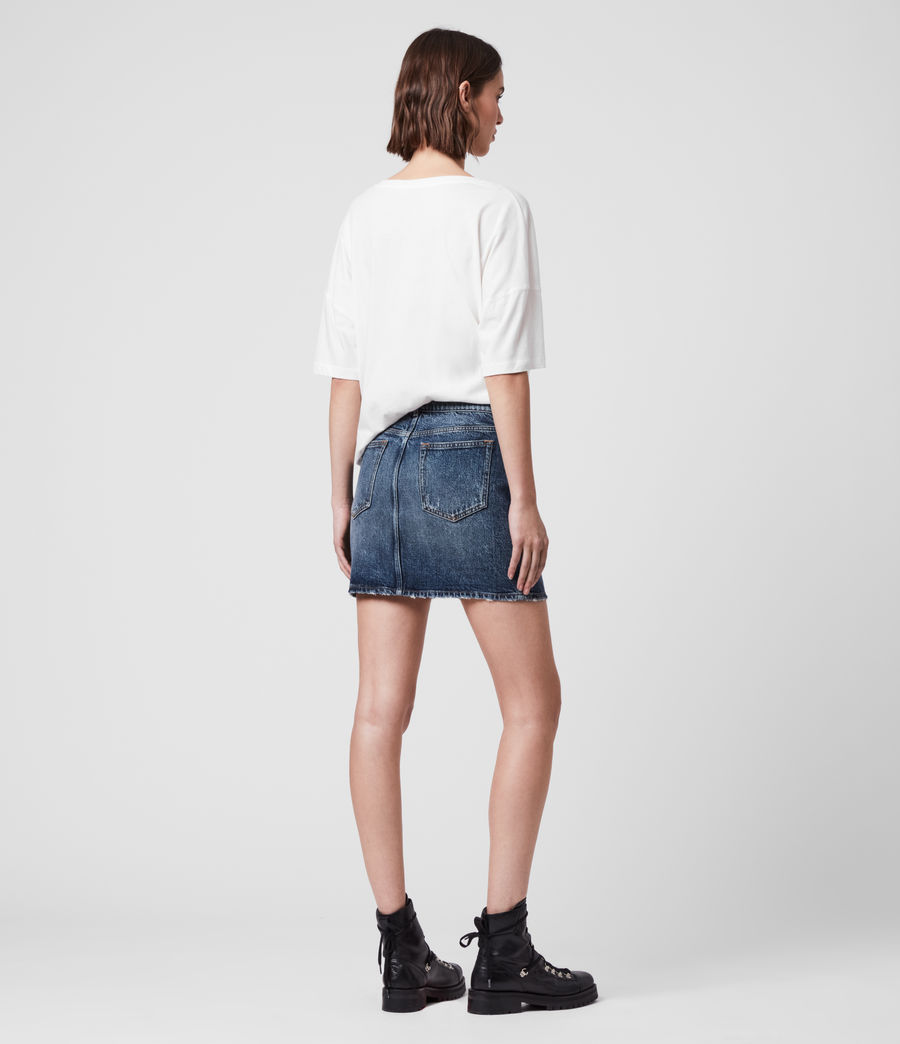 Womens Arden Denim Skirt (dark_indigo_blue) - Image 5