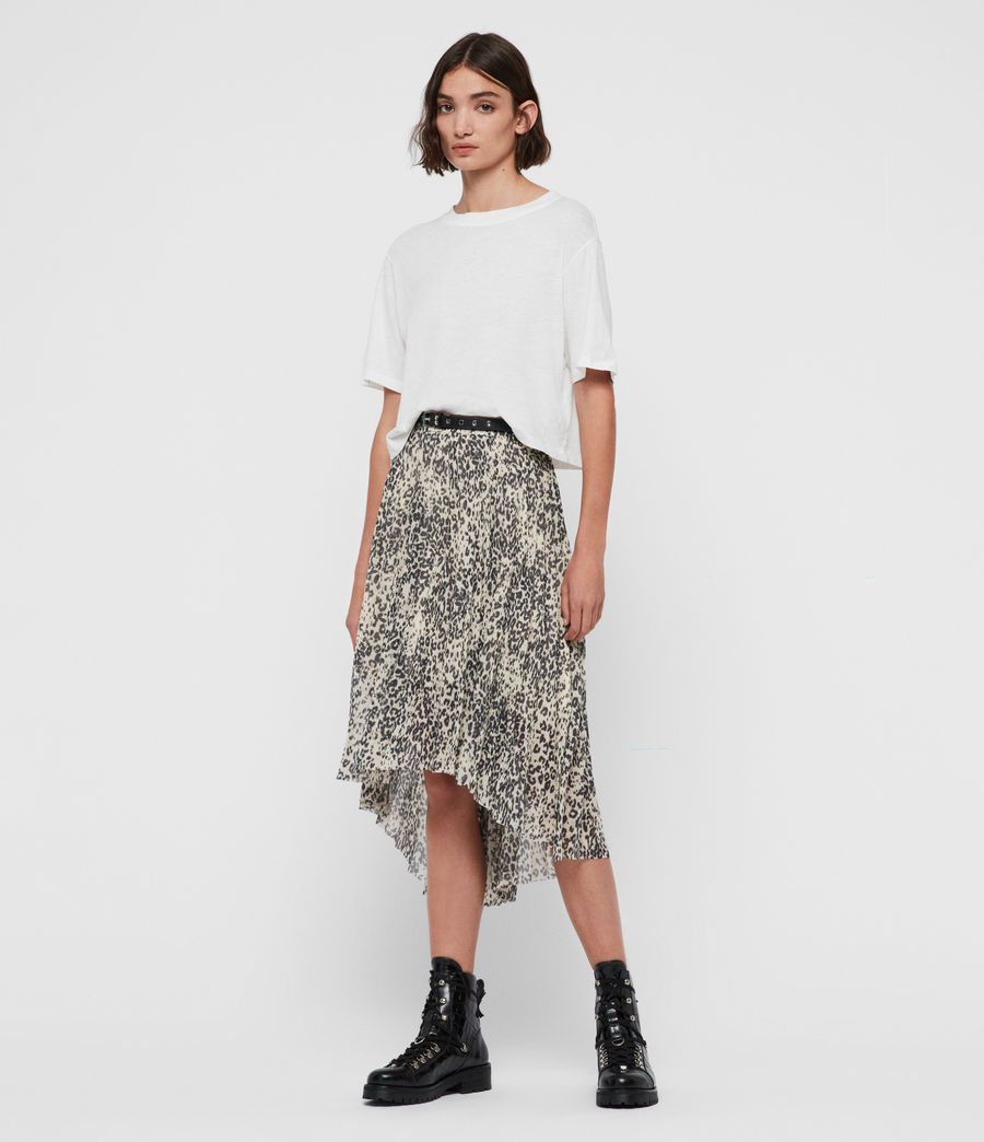 Womens Lea Patch Long Skirt (ivory_white) - Image 1