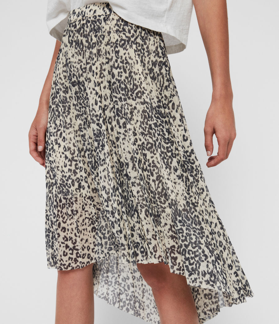 Womens Lea Patch Long Skirt (ivory_white) - Image 2