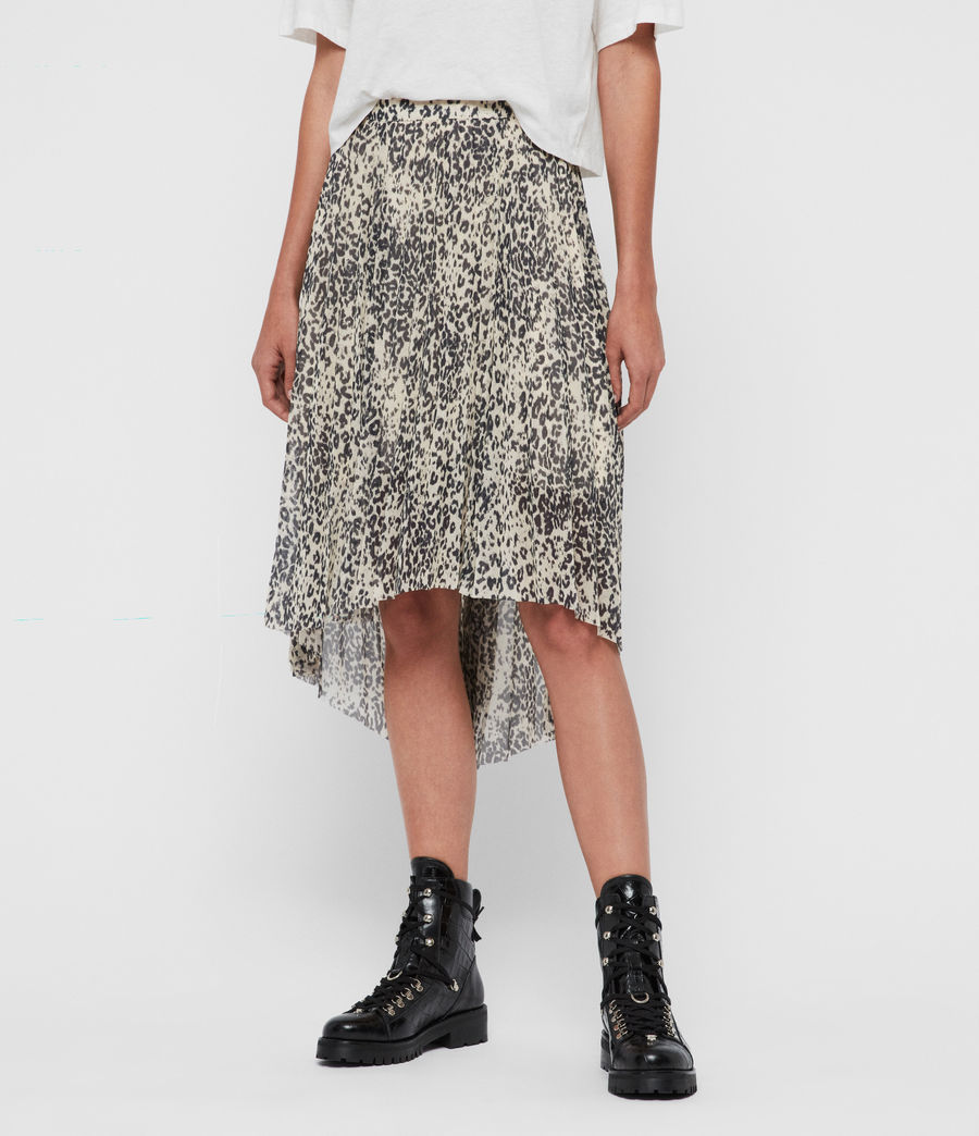 Womens Lea Patch Long Skirt (ivory_white) - Image 3