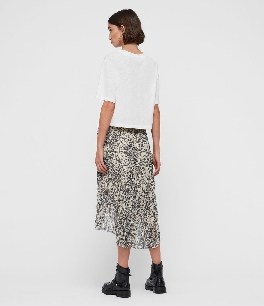 Womens Lea Patch Long Skirt (ivory_white) - Image 4