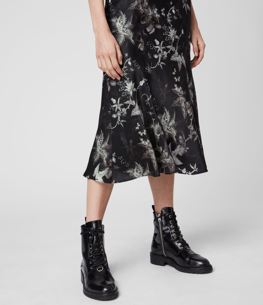 Womens Elly Silk Blend Evolution Skirt (black) - Image 2