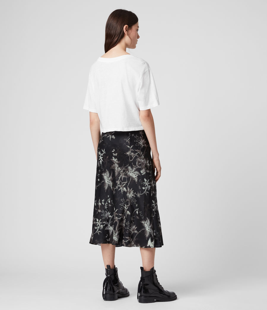 Womens Elly Silk Blend Evolution Skirt (black) - Image 5