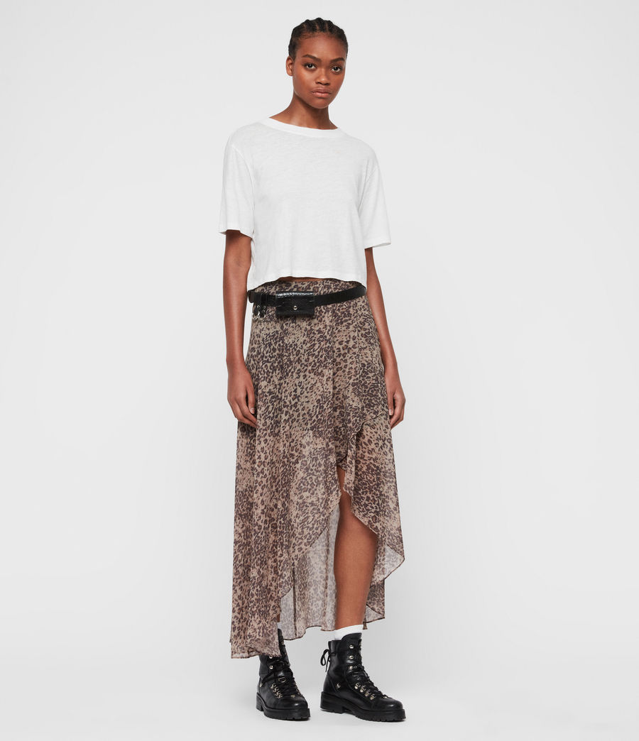 Womens Slvina Patch Skirt (camel_brown) - Image 4