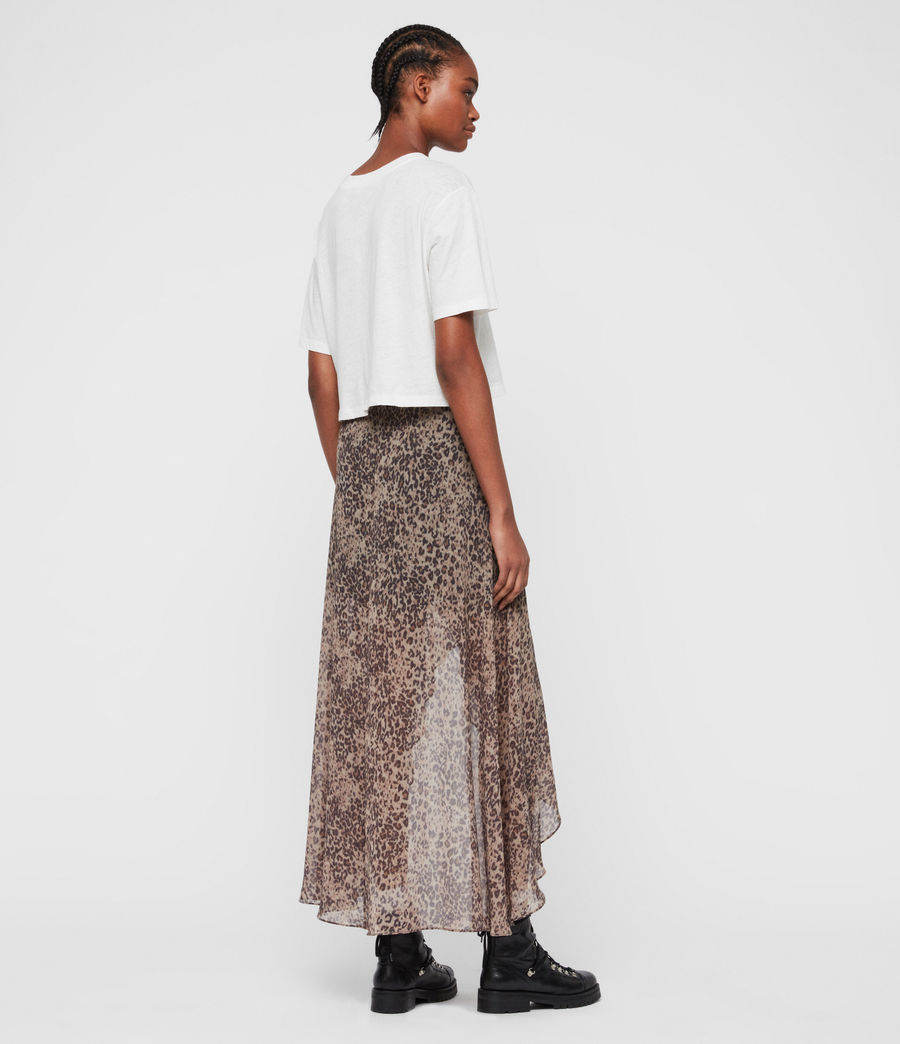 Womens Slvina Patch Skirt (camel_brown) - Image 5