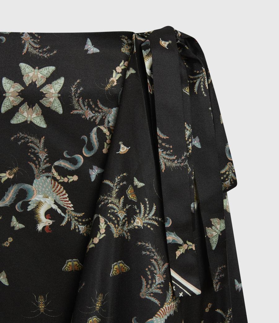 Womens Maia Assam Silk Blend Skirt (black) - Image 5