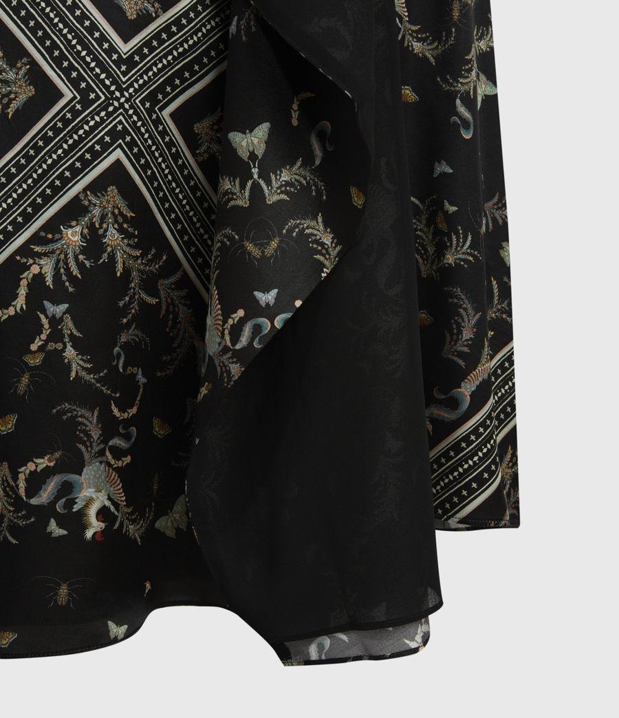Womens Maia Assam Silk Blend Skirt (black) - Image 6