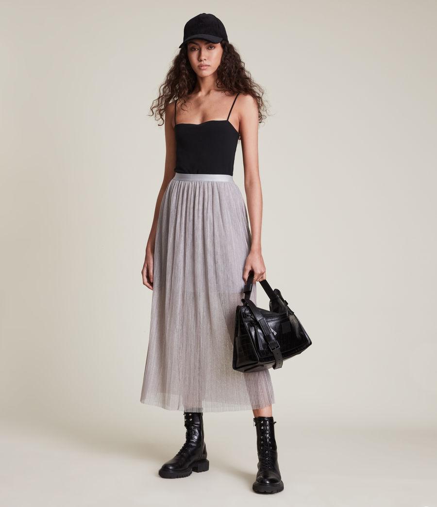 Womens Dina Skirt (shimmer_grey) - Image 1