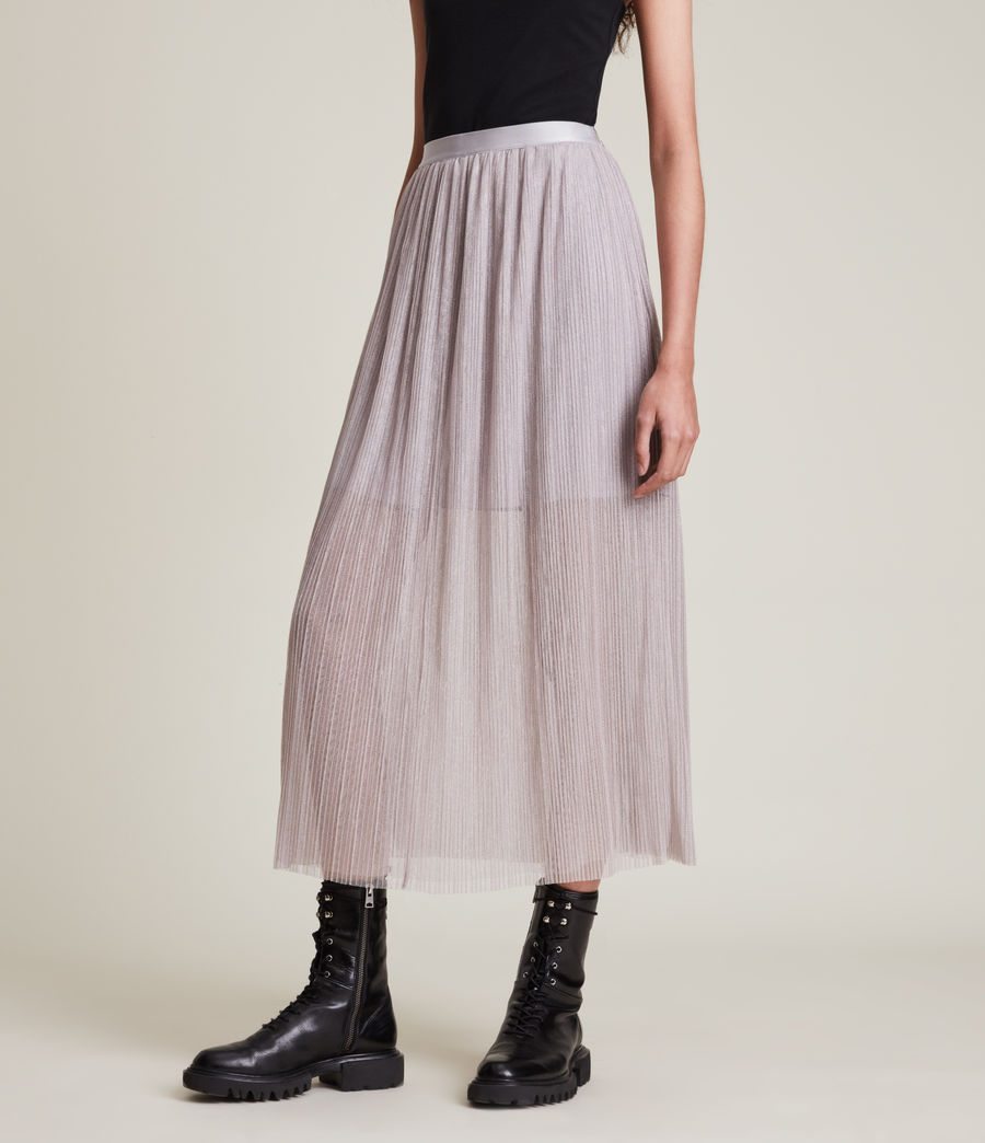 Womens Dina Skirt (shimmer_grey) - Image 2