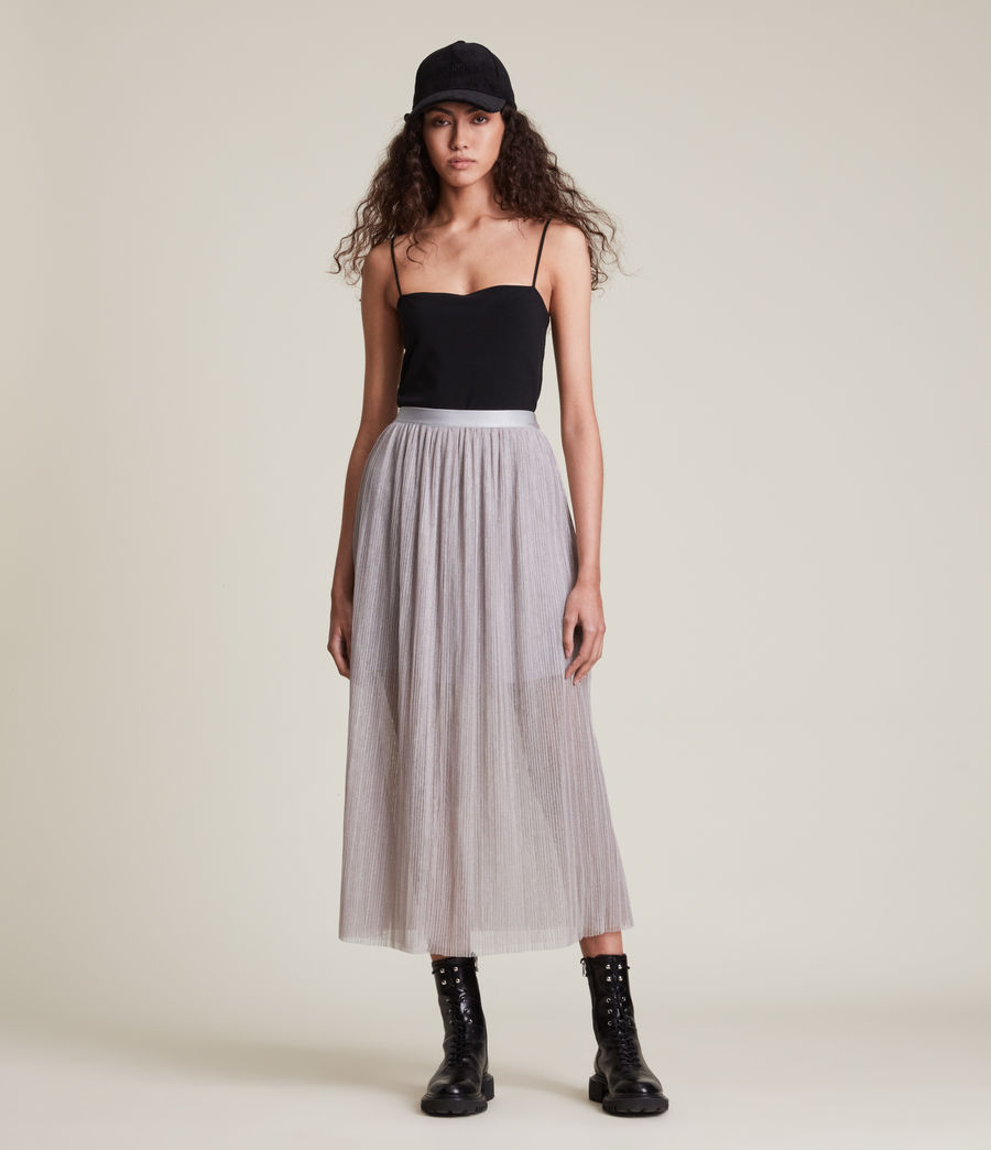 Womens Dina Skirt (shimmer_grey) - Image 3