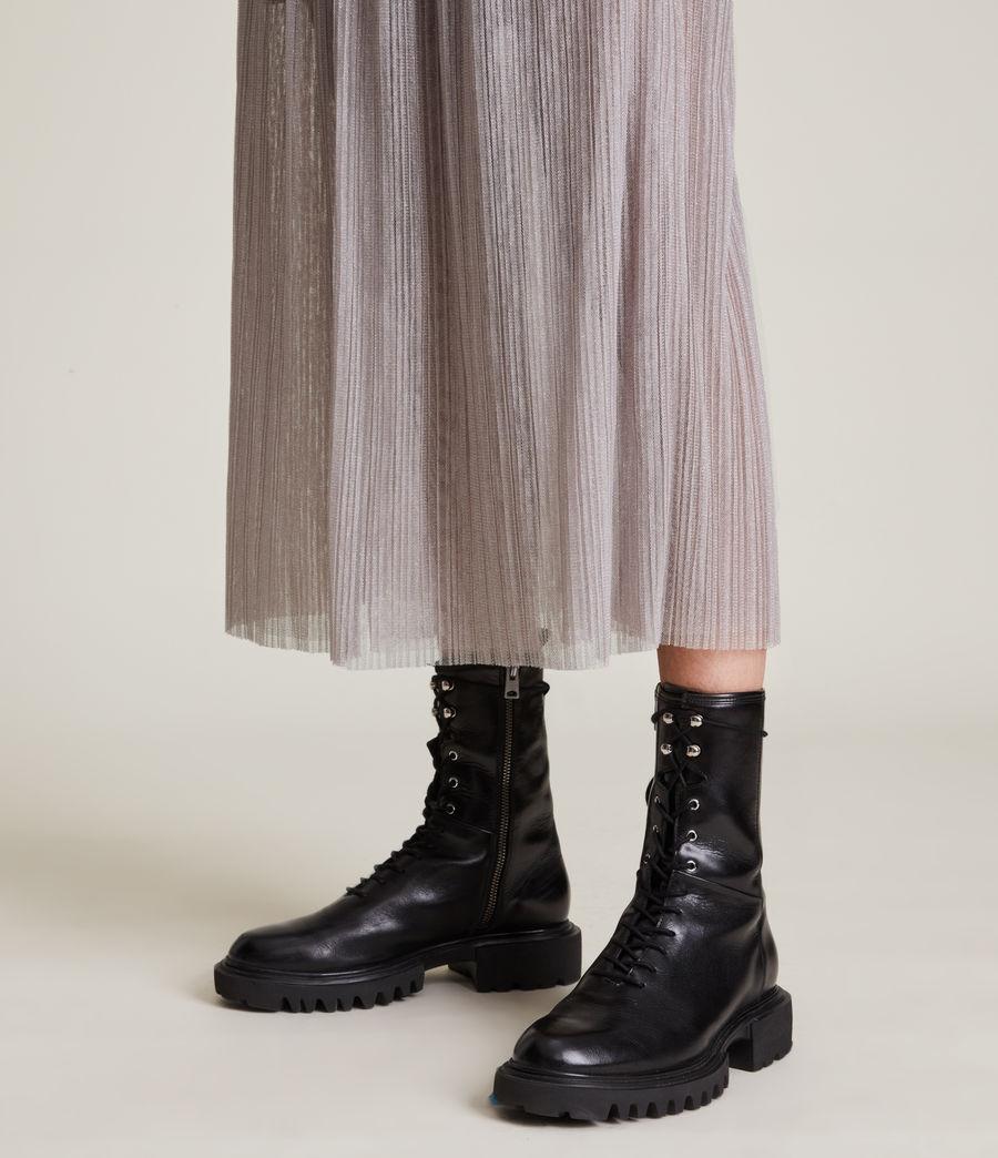 Womens Dina Skirt (shimmer_grey) - Image 4